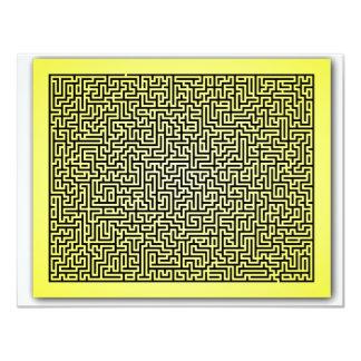 Yellow Maze Custom Invitation