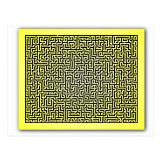 Yellow Maze Postcard