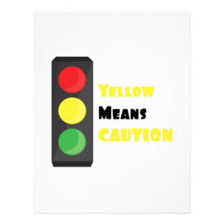 Yellow Means Caution Letterhead Template
