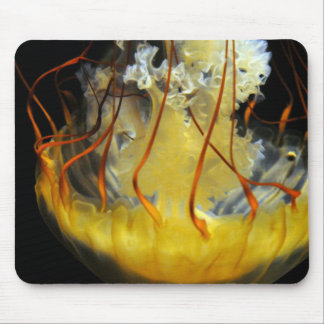 Yellow Medusa Jellyfish Mouse Pad