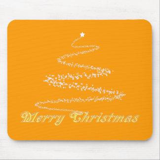 Yellow Merry Christmas Mousepad
