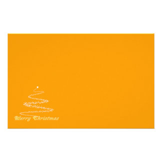 Yellow Merry Christmas Stationery