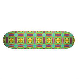 yellow message skateboard deck