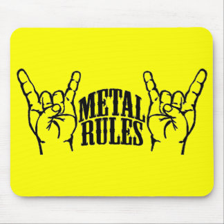Yellow Metal Rules Mouse Pad