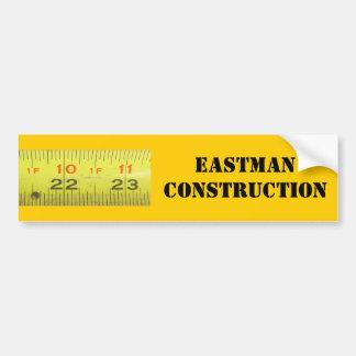 Yellow Metal Tape Measure Bumper Sticker