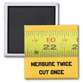 Yellow Metal Tape Measure Magnet