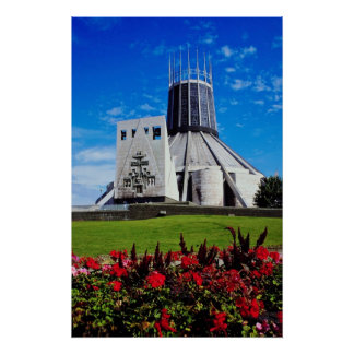 Yellow Metropolitan Cathedral of Christ the King Poster