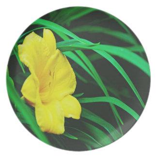 Yellow Michigan flowers Plate