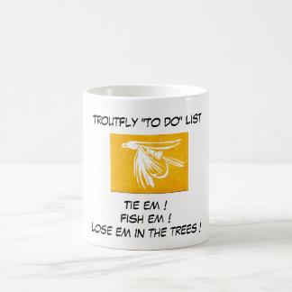 """Yellow Midge - Trout Fly ""To Do List"" Mug"