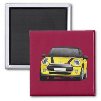 Yellow MINI Cooper 2 Inch Square Magnet