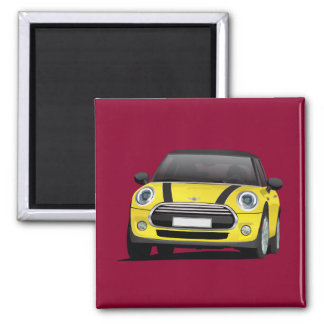 Yellow MINI Cooper Magnet