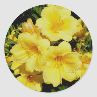 Yellow Mini Lilies Stickers
