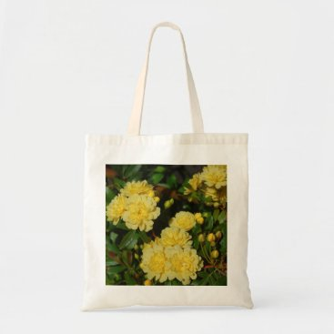 Beach Themed Yellow Mini Rose Cluster Tote Bag