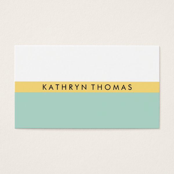 Yellow / Mint Business Card