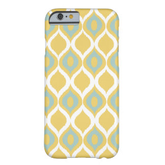 Yellow Mint Geometric Ikat Tribal Print Pattern Barely There iPhone 6 Case