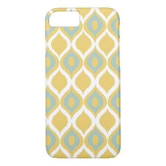 Yellow Mint Geometric Ikat Tribal Print Pattern iPhone 7 Case