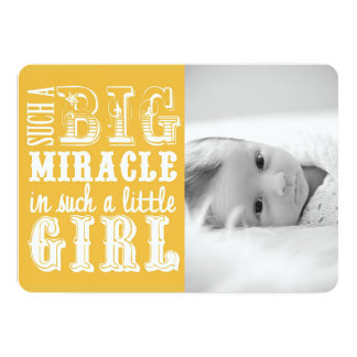 Yellow Miracle Girl | Photo Birth Announcement
