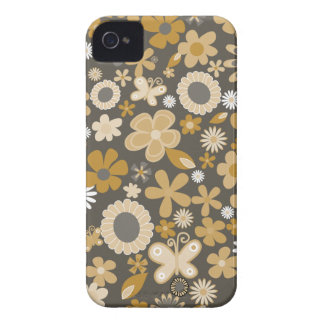 Yellow Mixed Flowers iPhone 4 Covers
