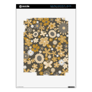 Yellow Mixed Flowers Decals For iPad 3