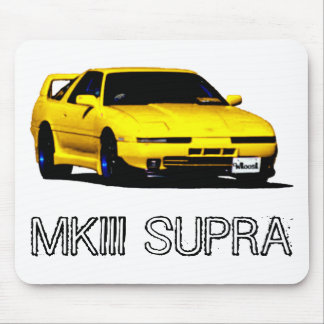 Yellow MKIII Toyota SUPRA Mouse Pads