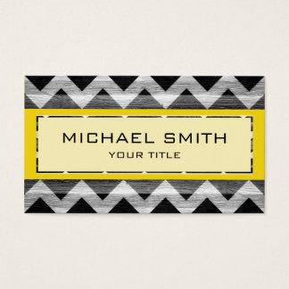 Yellow Modern Chevron Pattern Business Card