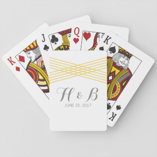 Yellow Modern Deco Playing Cards