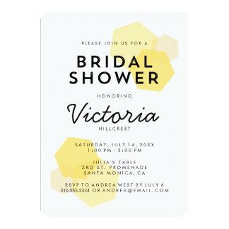 Yellow   Modern Geometric Bridal Shower Invitation