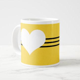 Yellow Modern Heart Jumbo Mug