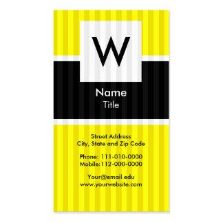 Yellow Modern Monogram Business Card