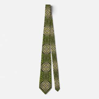 Yellow modern trendy pattern tie