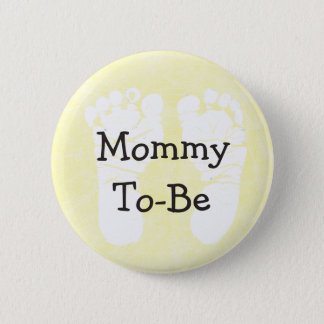 Yellow Mommy-To-Be Baby Shower Button