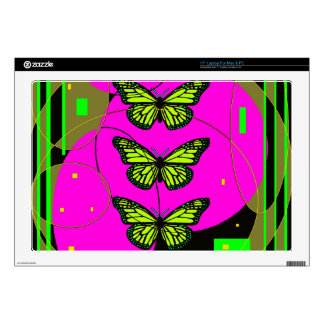 Yellow Monarch butterflies by Sharles Laptop Decal