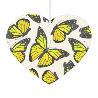 Yellow Monarch Butterfly Pattern Air Freshener