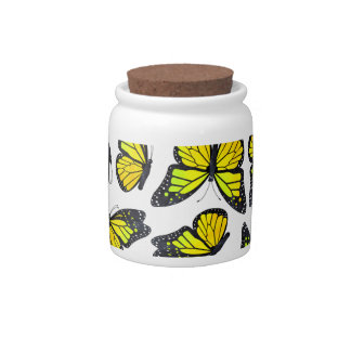 Yellow Monarch Butterfly Pattern Candy Dishes