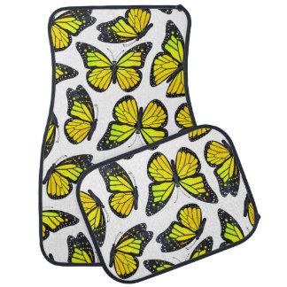 Yellow Monarch Butterfly Pattern Car Floor Mat
