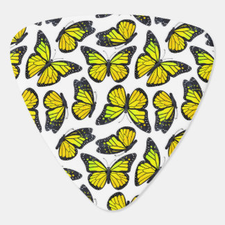 Yellow Monarch Butterfly Pattern Guitar Pick
