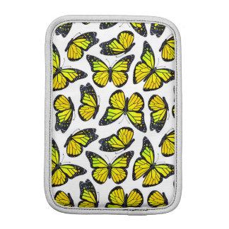 Yellow Monarch Butterfly Pattern iPad Mini Sleeve