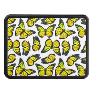 Yellow Monarch Butterfly Pattern Tow Hitch Cover