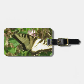 Yellow Monarch butterfly picture up close Luggage Tag