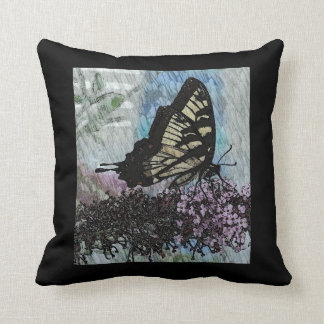 Yellow Monarch Butterfly Pillow