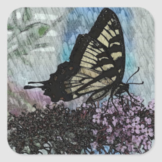 Yellow Monarch Butterfly Stickers