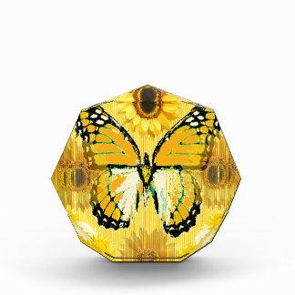 Yellow MONARCH  BUTTERFLY & Sunflower ART Acrylic Award