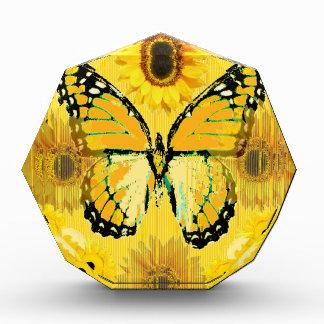 Yellow MONARCH  BUTTERFLY & Sunflower ART Award