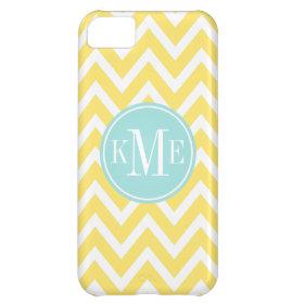 Yellow Monogram Chevron Stripe | Apple iPhone 5 Case For iPhone 5C