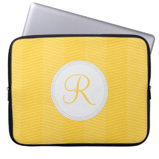 Yellow Monogram Laptop Sleeve