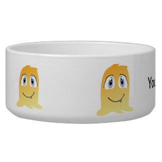 Yellow monster cartoon bowl
