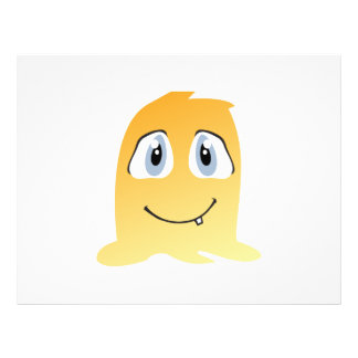 Yellow monster cartoon flyer