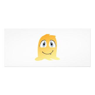 Yellow monster cartoon rack card