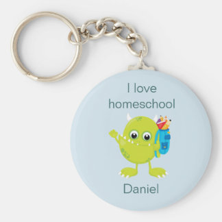 Yellow Monster Homeschool Keychain