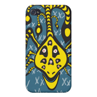 yellow monster iphone case iPhone 4/4S cover